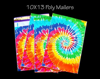 """30/35/40 """"Tie Dye"""" 10X13 Designer Poly Mailers Self Seal Waterproof Envelope Shipping Bags Fast Shipping"""