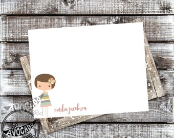 Cute Little Girl Stationary - DIY Printing or Professional Prints