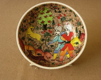 Turkish Folkware Kutahya Hand Painted Bowl