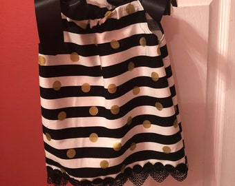 Black and White Striped Pillowcase Dress