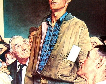 Norman Rockwell - Freedom of Speech - 1961 Vintage Print - Vintage Book Page - 13 x 11