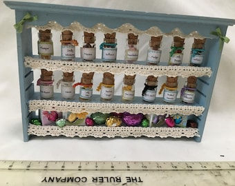 Dolls House Miniatures - Sweet Shop Wall Shelf