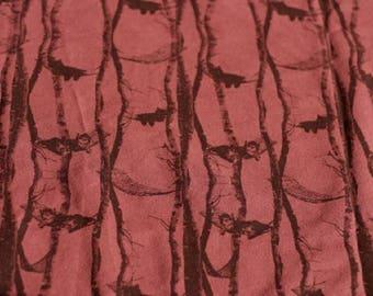 Sweatshirt fabric loop label oeko tex cat pattern