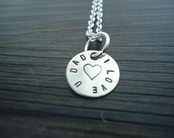 """1/2"""" Circular Name, Message or Date Charm"""