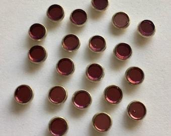 Vintage Rose Montee 5mm Sew Ons - Purple/Silver Setting