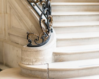 Paris Photography - Musee Rodin Staircase, Neutral Decor, French Home Decor, Large Wall Art