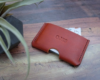 Slim Italian Leather Card Wallet, Leather Card Holder, Credit Card Wallet, Minimalist Wallet, Business Card Holder, Gifts For Him