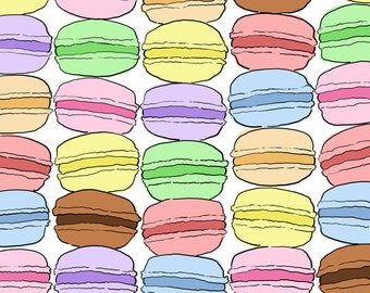Sweet Macarons 11x17 illustrated desserts poster - FREE shipping for US orders!