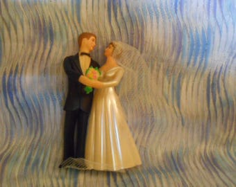 Vintage Wedding Cake Topper-5 Inches Tall
