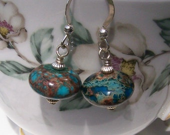 Ocean Dreams Earrings with Jasper and Sterling Silver