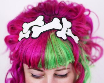 Glitter Bones Headband, Various Colours