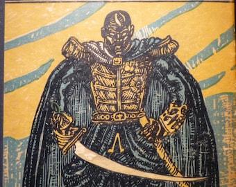 Black Majesty - Beautiful art print - 16 by 20 print wall art poster Black Panther 1930 - Black Lives Matter- King of Haiti print  framed