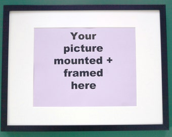 """Glazed Black or White frame for your mounted 10"""" x 8"""" picture, final size 16"""" x 12""""."""