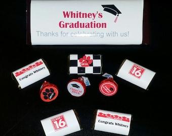 Hershey Kiss stickers- Graduation