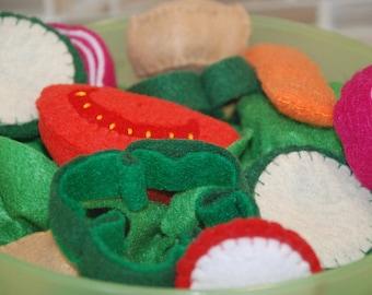 Felt Food Salad Set - Appropriate for Toddlers +