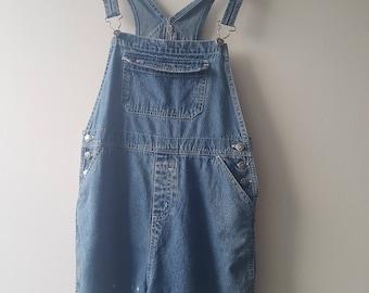 Embroidery vintage denim overalls