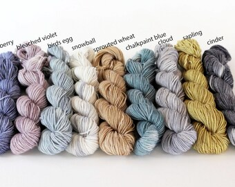 Mini Skeins, Peyton Sock, DK weight, Sparkle Sock (silver)