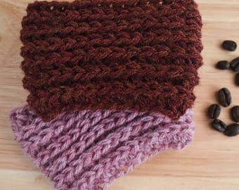 knit coffee sleeve, coffee cozy, cup sleeve, knit coffee cozy, crochet coffee cozy, tea cozy