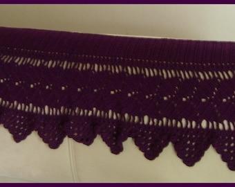 Violet shawl crochet openwork acrylic
