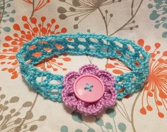 Woven flower baby headband