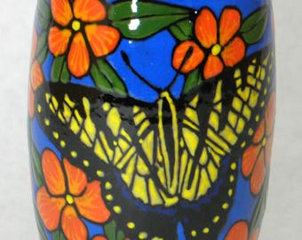 Swallowtail Vase w/Orange Flowers(Item#79)