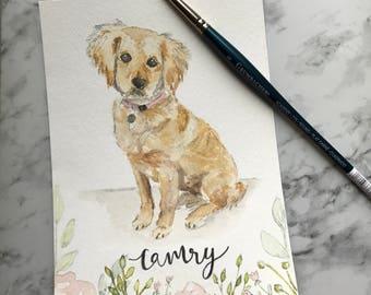 Watercolor Dog Portrait