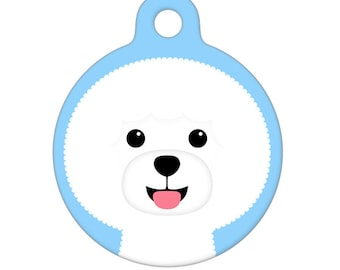 Pet ID Tag - Bichon Frise Pet Tag, Dog Tag