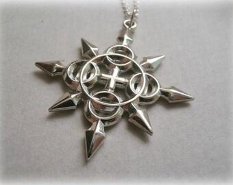 Axel's Chakram Pendant Sterling silver - Axel's Chakram Necklace Sterling Silver - Axel's Chakram Necklace Sterling Silver Replica - Custom
