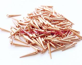 25 Mittel ROSE GOLD Spike Perlen mit oben Loop-32mm-schneller Versand mit Empfangsbestätigung enthalten-beste Qualität zur Verfügung