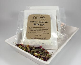 Buttermilk Bath Tea Bag, Natural Bath Soak, Herbal Tea for Bath Tub Tea Bath Salt, Milk Bath, Lavender Chamomile Bath Tea, Aromatherapy Bath
