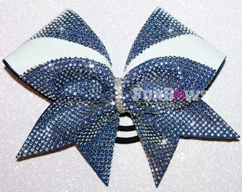 WOW - COVERED in rhinestones - gorgeous cheer bow by FunBows ! Customize It !