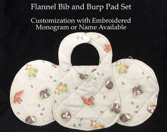 Baby Shower Gift, Burp Cloth, Baby Gift Set, Bib and Burp Cloth, Baby Bib, Drool Bib,