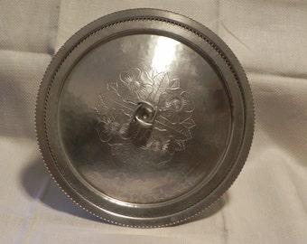 """Continental Silver Company Aluminum Covered Dish """"Brilliantone"""""""