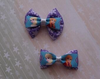Frozen Anna and Elsa hair bows