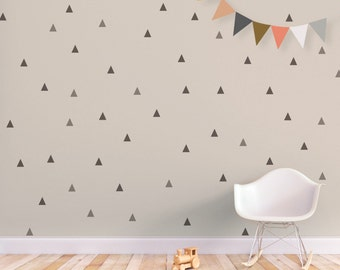 Triangle Wall Decal Baby Wall Decal Removable Stickers Kids Wall Stickers Baby Nursery Decor Gray Triangle. Little Peaks Children Wall Decal