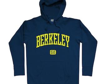 Berkeley 510 Hoodie - Men S M L XL 2x 3x - Berkeley Hoody, Sweatshirt, East Bay, Bay Area, California - 4 Colors