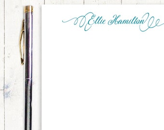 personalized notePAD - PERFECTLY ELEGANT - feminine stationery - letter writing paper - fancy stationary