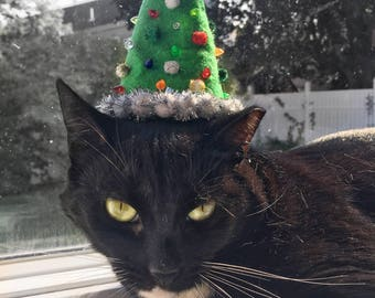 Christmas Tree Cat Hat