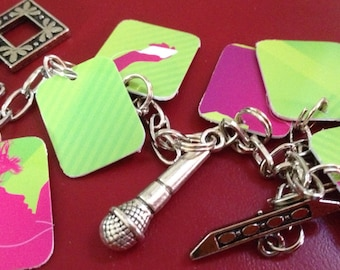 upcycled iTunes musical charm bracelet