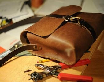 "Leather messenger small bag -  ""webag"" 4"