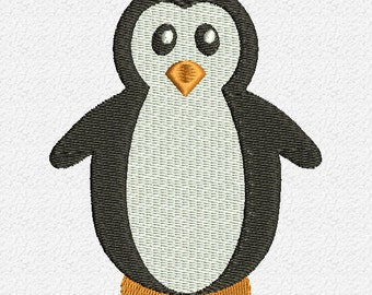 Penguin Embroidery Design Instant Download