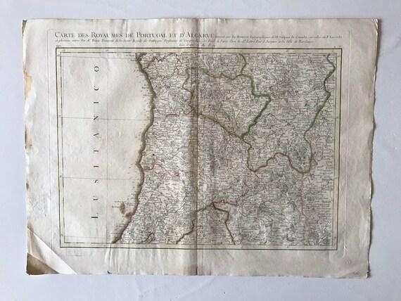 1771 Map of Portugal, Algarve Septentrionale