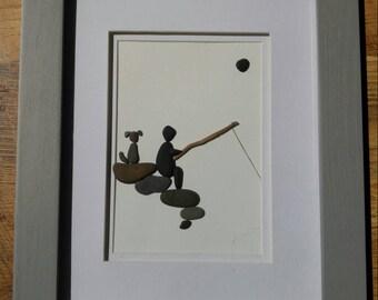 Man's best friend; pebble art