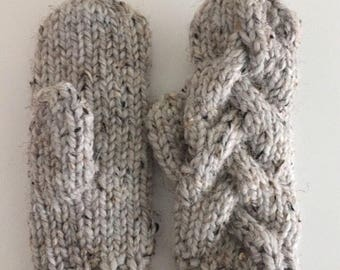 Braided Cable Mitten