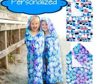 Personalized Hooded Towel Mermaid Towel, Beach Towel, Kids Hooded Towel, Kids Beach Towel, Monogram Beach Towel, Personalized Beach Towel