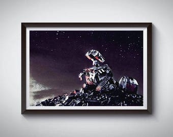WALL-E Inspired Art Poster Print, WALL-E Movie Poster