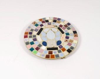 Vintage Tile Mosaic Trivet Midcentury Tile Mosaic Hot Pad