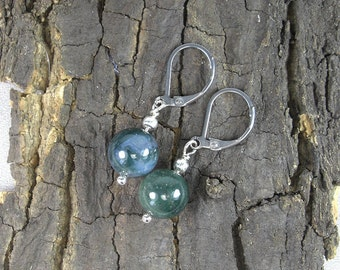 Earrings Agate