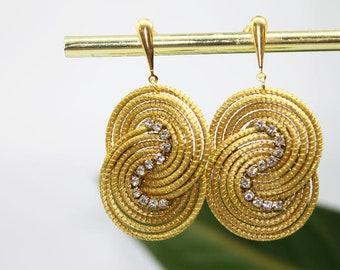 Golden Grass Earrings #jewellery #ecojewellery #bossaecodesigns