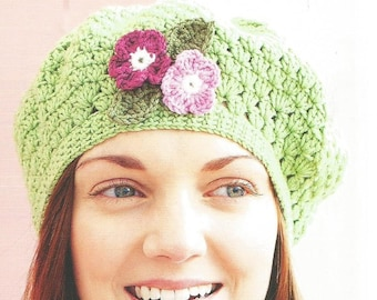 Instant Download - PDF-  A lovely Beret Style Hat Crochet Pattern (CA24)